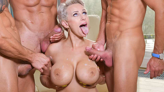 DDFBusty Angel Wicky Busty Blonde S Three On One Fun 11 08 2020
